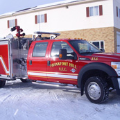 Frankfort Hill VFD | HME Ahrens Fox Mini Evo | Ford F550 w/ stainless body, 1500 gpm Hale pump, 400 gal. water, foam system, LED scene and warning lights
