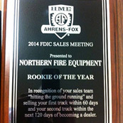 HME Ahrens-Fox 2014 Rookie of the Year Award